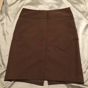 The Limited brown pencil skirt with pockets